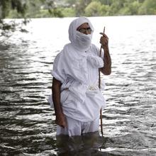 Sydney 2014 Masbuta 04: Preparing the water for Masbuta (Full Baptism) with prayers